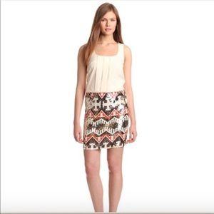 Nwot Jessica Simpson cream sequined bottom dress 2